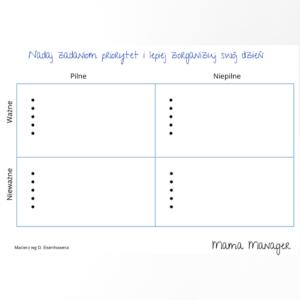 Nadaj priorytet swoim zadaniom - formatka do wypełnienia