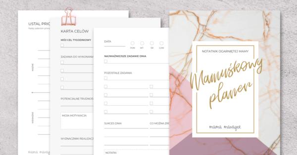 Mamuśkowy Planer - książkowy planer czasu dla Mam