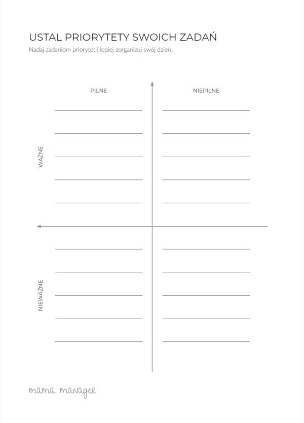 Planer dla Mam, planer czasu, planer czasu dla Mam, kalendarz dla Mam