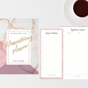 Mega Pakiet - Mamuśkowy Planer + Notes Tygodniowy Plan posiłków + notes Moja Checklista